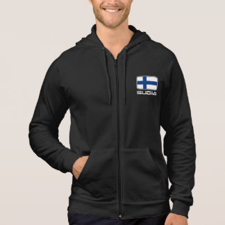 Suomi flagga hoodie