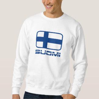 Suomi flagga lång ärmad tröja