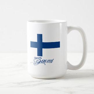 Suomi kopp vit mugg