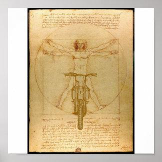 Supercross för Motocross för Da Vinci smutscykel Poster
