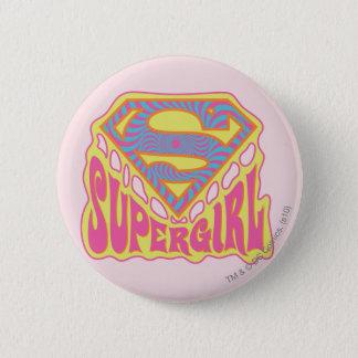 Supergirl Groovy logotyp Standard Knapp Rund 5.7 Cm