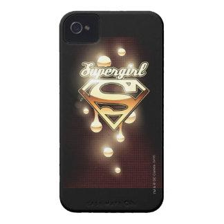Supergirl gulddroppandear Case-Mate iPhone 4 fodral