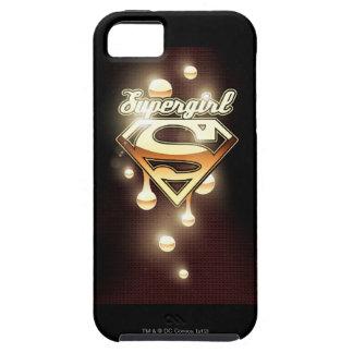 Supergirl gulddroppandear iPhone 5 fodraler