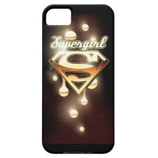 Supergirl gulddroppandear iPhone 5 hud