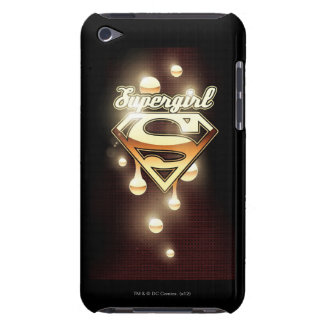 Supergirl gulddroppandear iPod Case-Mate cases