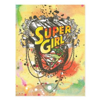 Supergirl kedjar vykort
