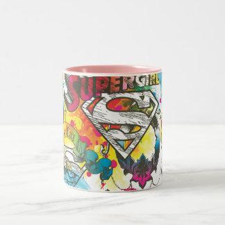Supergirl Luxmönster Två-Tonad Mugg