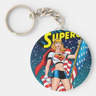 Supergirl Rund Nyckelring