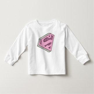 Supergirl skissade den rosa logotypen t shirts