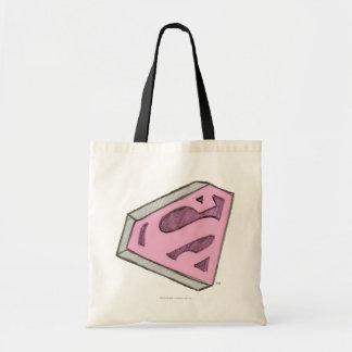 Supergirl skissade den rosa logotypen tygkasse