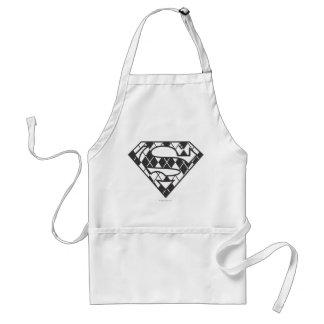 Supergirl svart Argyle logotyp Förkläde