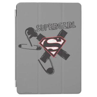 Supergirl svart säkerhetsnålar iPad air skydd
