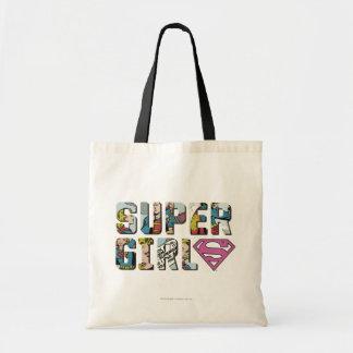 Supergirl tecknadlogotyp tygkasse