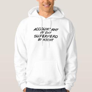 Superhero vid natt - revisor sweatshirt med luva
