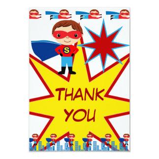 Superheroen lurar kort för 8,9 x 12,7 cm inbjudningskort