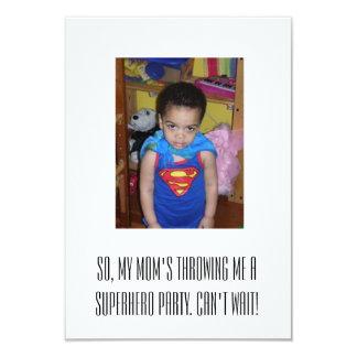 Superheropartyinbjudan 8,9 X 12,7 Cm Inbjudningskort