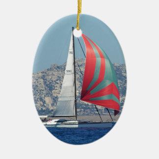 Superyacht Julgransprydnad Keramik