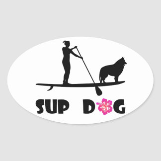 SUPhund Ovalt Klistermärke