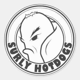 Sura Hotdogs Runt Klistermärke
