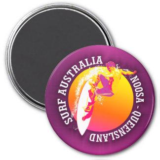 Surfa Australien (Noosa) Magnet Rund 7.6 Cm