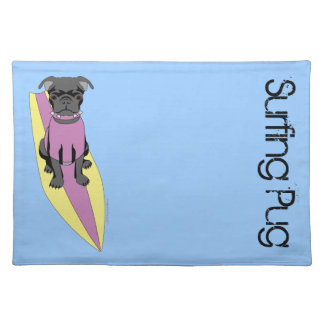 Surfa bordstablett för mops (pastell)