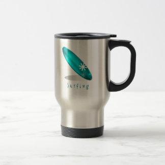 Surfa den rostfria travel mug för logotyp resemugg