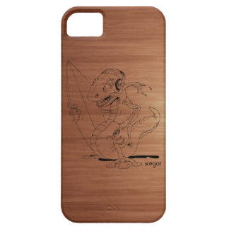 Surfa den wood tryckiphone case för gecko iPhone 5 cover