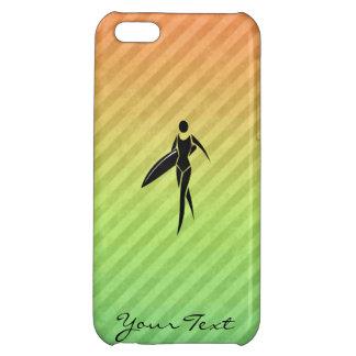 Surfa flickan iPhone 5C mobil fodral