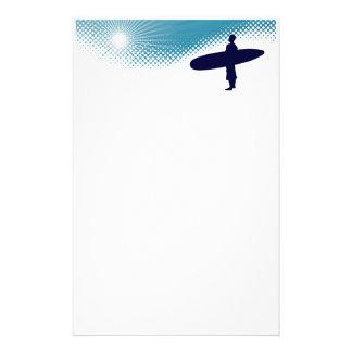 surfa för solsken brevpapper