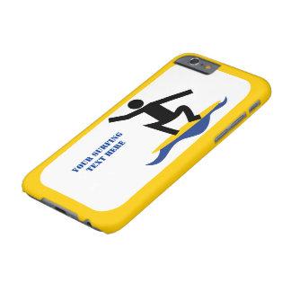 Surfa gåvor, surfare på hans moderna surfingbräda barely there iPhone 6 skal