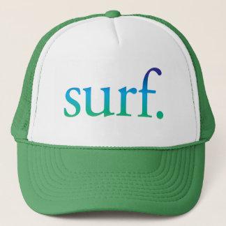 surfa hatten för surfa för den   blått- och truckerkeps