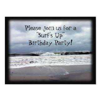 """""""Surfa övre"""" födelsedagsfest 16,5 X 22,2 Cm Inbjudningskort"""