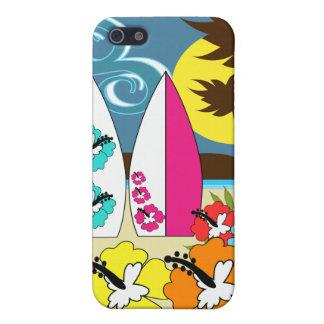 Surfa shoppar surfa palmträdet för iPhone 5 fodraler