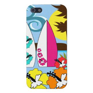 Surfa shoppar surfa palmträdet för iPhone 5 hud