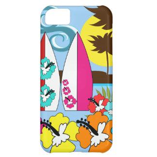 Surfa shoppar surfa palmträdet för iPhone 5C fodral