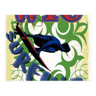 surfa som är stam- vykort