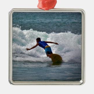 Surfa tamarindoen julgransprydnad metall