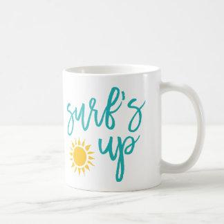 Surfa upp sommartypografi kaffemugg