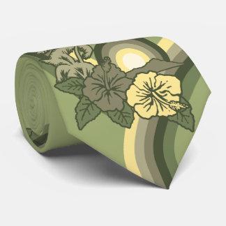 Surfa utskrivavet dubbelsidigt för hibiskus för slips