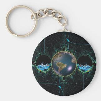 Surfaplanet Keychain Rund Nyckelring