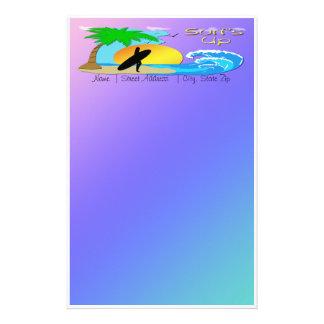 Surfar upp - surfareflickabrevpapper brevpapper