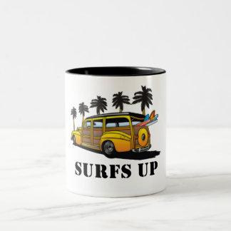 surfar upp Två-Tonad mugg