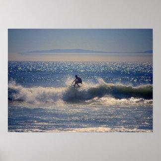 Surfare i Huntington Beachen, Kalifornien Poster