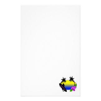 Surfare och blommor brevpapper