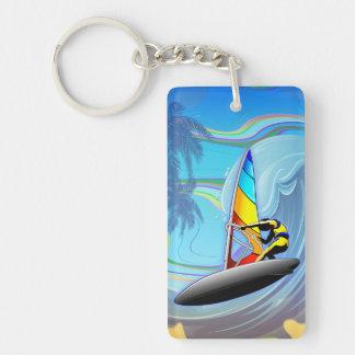 Surfare på hav vinkara Keychain