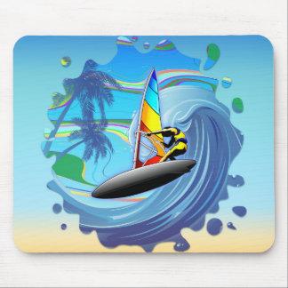 Surfare på hav vinkara Mousepad Musmatta