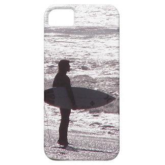 Surfare som surfar det vinkara havet Kalifornien iPhone 5 Hud