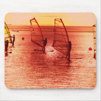 Surfarear på horisontmus vadderar musmatta