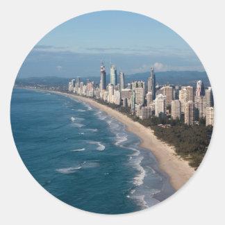 Surfareparadis Gold Coast Queensland Australien Runt Klistermärke