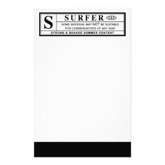 surfarevarningsetikett brevpapper